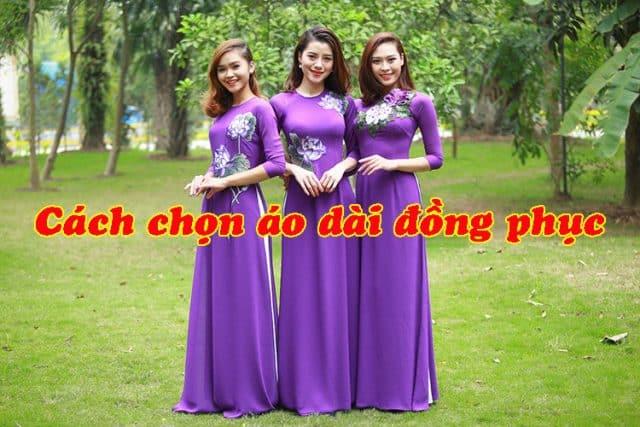 cách chọn áo dài đồng phục