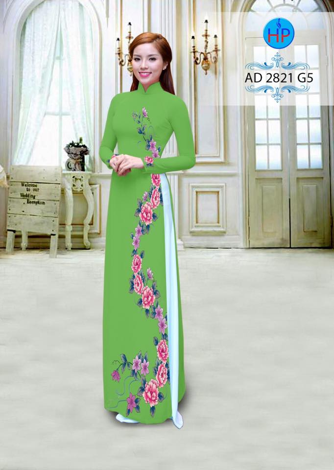 vai-ao-dai-in-hoa-doc-ben-than-mau-xanh-la