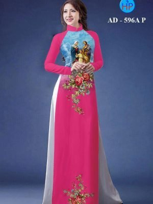 vải áo dài in hình Thánh Gia