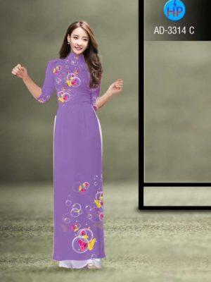 vải áo dài in hình bướm và bong bóng (1)