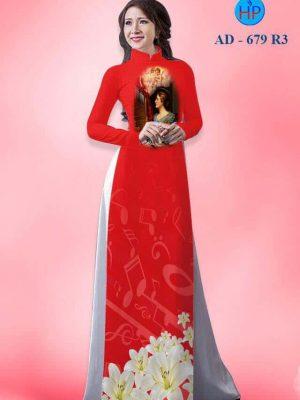 vải áo dài in hình thánh nử tử đạo Thánh Cêcilia (1)