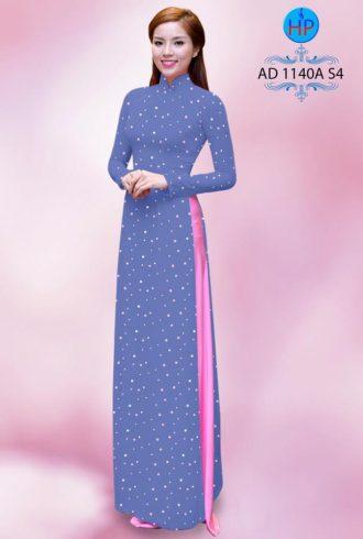 vải áo dài đẹp chấm bi nhỏ toàn thân (1)