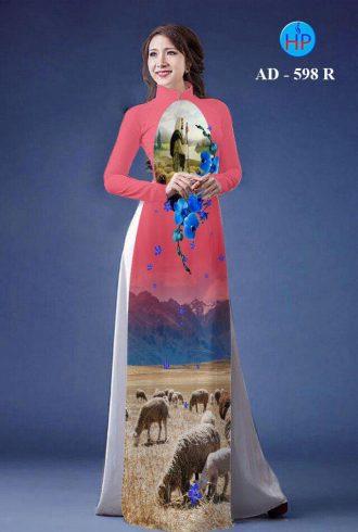 vải áo dài in hình Chúa Chiên lành (1)