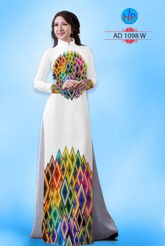 vải áo dài in hình hoa văn hình thoi (1)