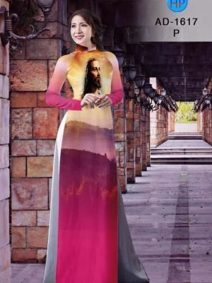 vải áo dài in hình khuôn mặt Chúa Giesu (1)