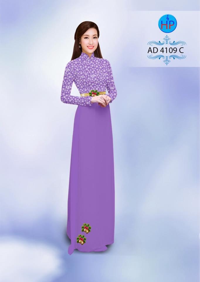 vải áo dài trang trí hoa tuyết giáng sinh (1)