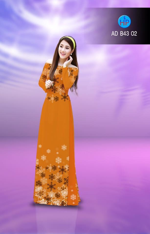 Vải áo dài in hình hoa tuyết trên dưới
