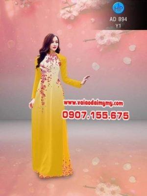 vải áo dài hoa đào đỏ (1)