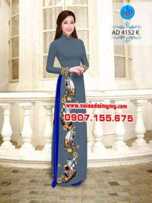 vải áo dài in hình chim dọc trên tà áo (1)