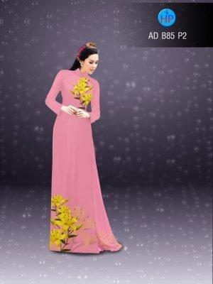 vải áo dài in hình hoa ly ra71t đẹp (1)