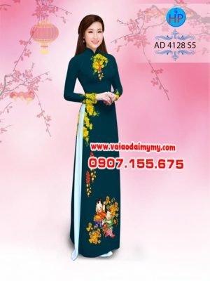 vải áo dài in hình hoa mai đón tết (1)