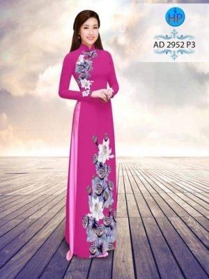 vải áo dài in hình hoa sen trên dưới rất đẹp (1)