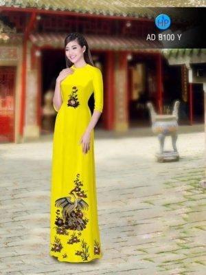 vải áo dài tết hình chim công (1)