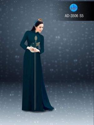 vải áo dài hoạ tiết hoa sen ngực áo (1)