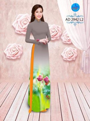 vải áo dài hoa sen đẹp (1)