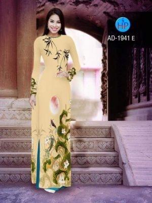 vải áo dài hoa sen đẹp (529)