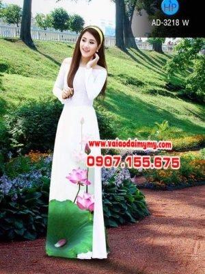 vải áo dài hoa sen đangn ở (1)