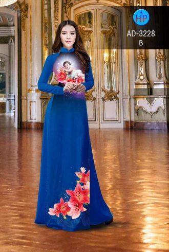 vải áo dài in hình Chúa Giesu Hài Đồng (1)