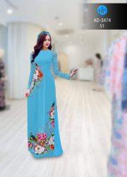 vải áo dài in hình hoa cẩm chướng (1)