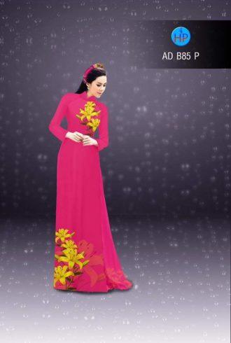 vải áo dài in hình hoa ly trên dưới (1)