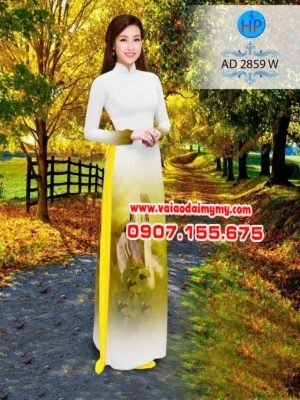 vải áo dài phong cảnh hoa sen (1)