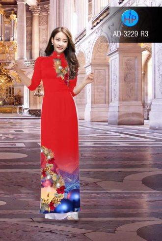 vải áo dài trang trí giáng sinh đẹp (1)