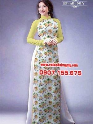 vải áo dài hoa hồng toàn thân AD 501 (1)