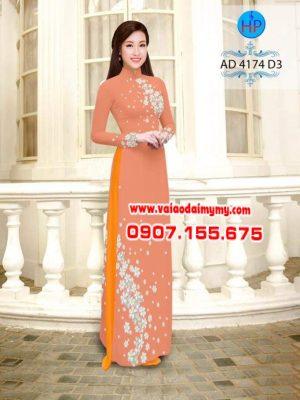 Vải áo dài hoa sứ AD 4174