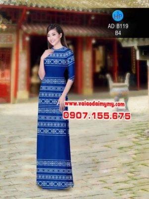 Vải áo dài hoa văn đẹp AD B119