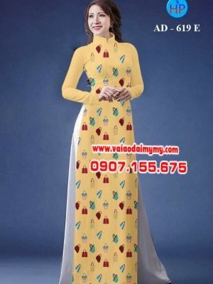 Vải áo dài trang trí túi xách đẹp AD 619