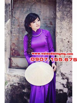 vải áo dài màu tím