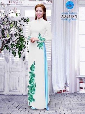 Vải áo dài hoa hồng AD 2415