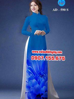 Vải áo dài hoa cúc AD 590