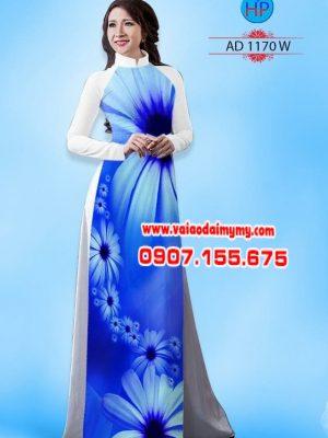 Vải áo dài hoa cúc AD 1170
