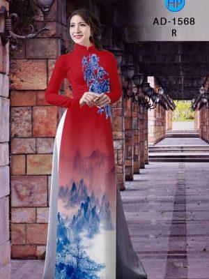 Vải áo dài hoa cúc AD 1568