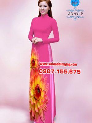 Vải áo dài hoa cúc AD 931