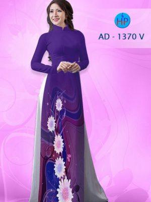 Vải áo dài hoa cúc AD 1370