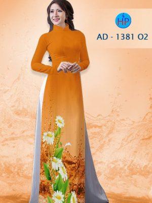 Vải áo dài hoa cúc AD 1381