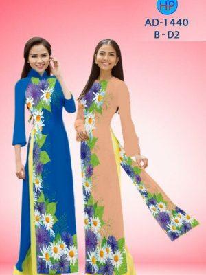 Vải áo dài hoa cúc AD 1440