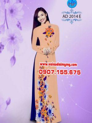 Vải áo dài hoa cúc AD 2014