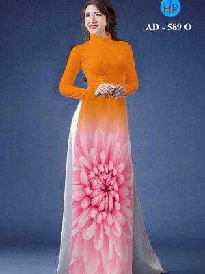 Vải áo dài hoa cúc AD 598