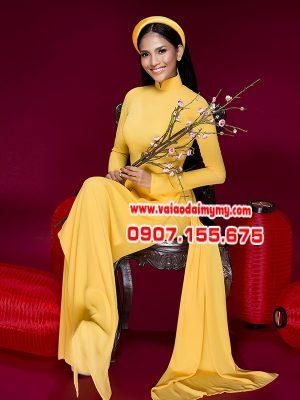 vải áo dài màu vàng
