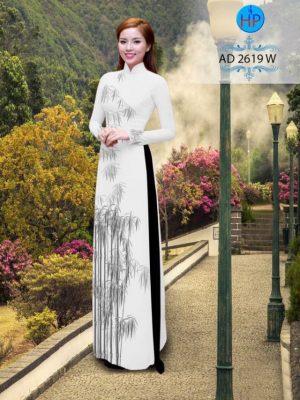Vải áo dài hình cây trúc AD 2619