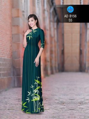Vải áo dài hình cây trúc AD B156