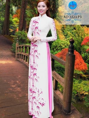 Vải áo dài hình cây trúc AD 2223