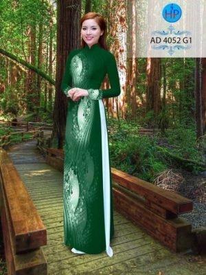 ải áo dài hoa áo đẹp AD 4052