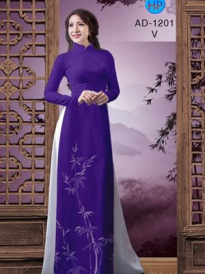 Vải áo dài hình cây trúc AD 1201