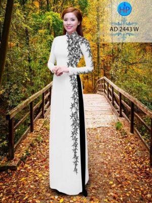 Vải áo dài hình cây trúc AD 2443