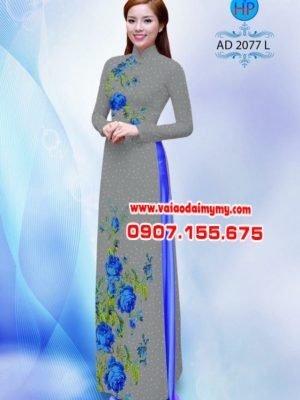 Vải áo dài chấm bi đẹp AD 2077