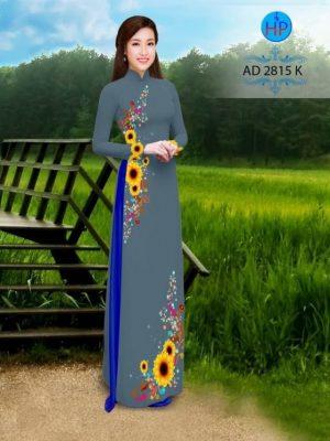 Vải áo dài hình hoa hướng dương AD 2815